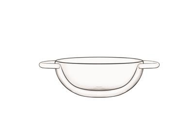 Wok 17.5 cl Thermic Glass  RM467 Bormioli Luigi